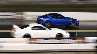 Subaru BRZ Drag Racing 1/4 Mile 16.1 Vs Toyota Supra