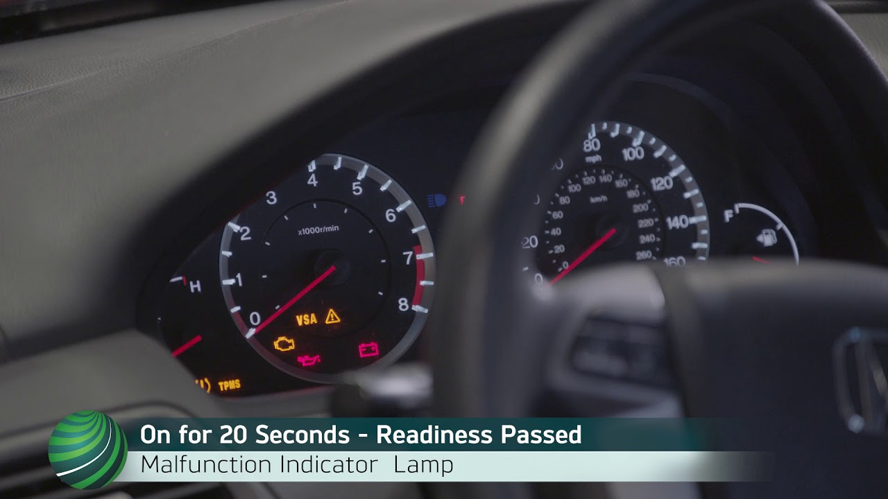 Honda OBD II Emission Monitor Status - Readiness Code Checking Using the  Instrument Cluster