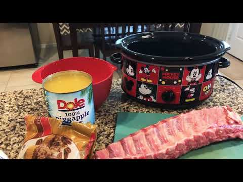 Crockpot Baby Back Ribs!