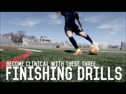 Three Essential Finishing Drills For Attackers | Individual Training For Footballers/Soccer Players