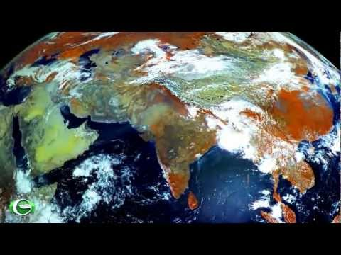 A timelapse of Planet Earth from Electro-L satellite