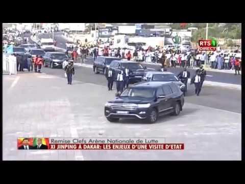 Pikine: L'arrivée de Macky Sall à l'inauguration de l'arène nationale