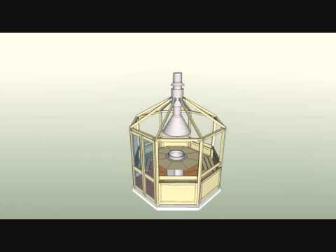 сборка шестигранной беседки - гриль Lite LST-1 с элементами их