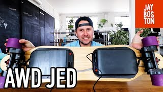 THE JED BOARD ALL WHEEL DRIVE (AWD) FIRST RIDE - PRE-PRODUCTION ELECTRIC SKATEBOARD