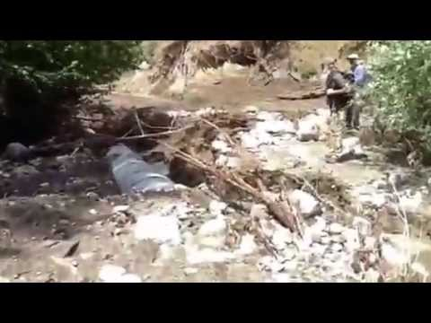 Carlton Complex Fire salvage logging - washed out road