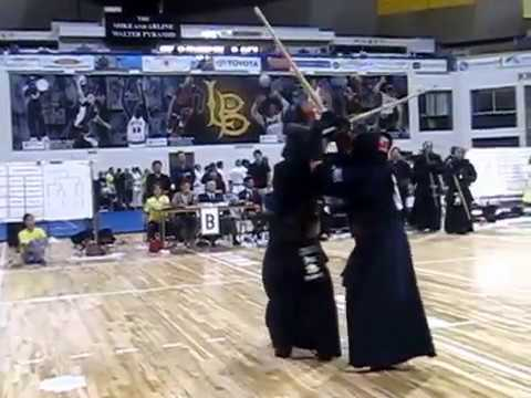 Kendo 2014 Nikkei Games Kachinuki Team: CMKD v GED -- 2 vs 2