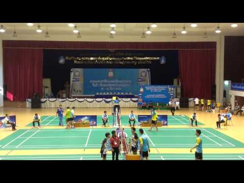 laos Badminton Match 09/03/2016 | University 's Sports 2016 | National University of Laos
