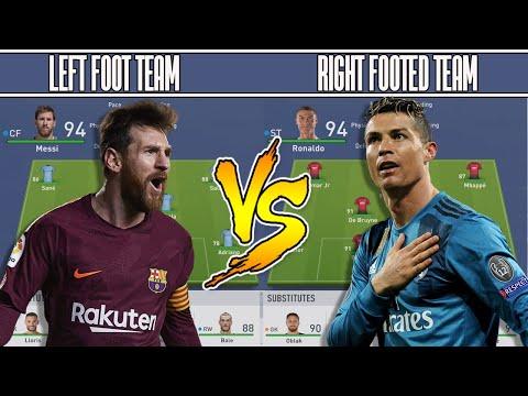 BEST LEFT FOOT👣 TEAM VS BEST RIGHT FOOT 👣 TEAM FIFA 19 EXPERIMENT!