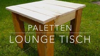 DIY Paletten Lounge Tisch  selbst gemacht