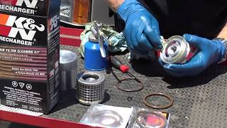 How To Clean A K&N Stainless Steal Re-Usable Oil Filter W/Paul Henderson