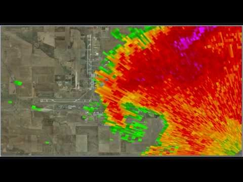 Denver International Airport Tornado Radar Loop - June 18, 2013