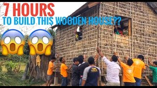 Build a wooden house just only one day ?? How ?