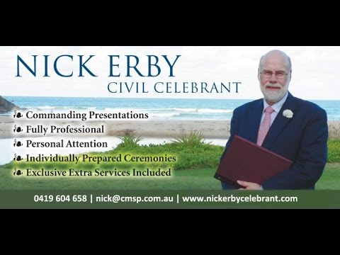 Nick Erby Gold Coast Wedding Celebrant 0419 604 658