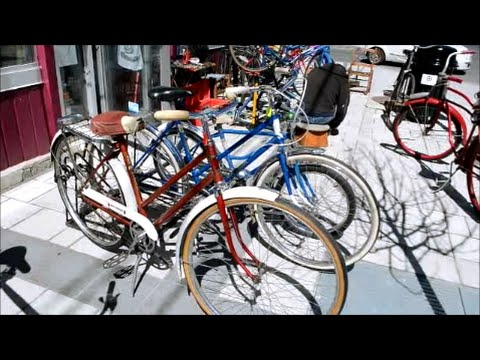 VINTAGE BIKES AT QUINN'S ANTIQUES SHOP