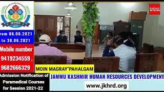 SDM Pahalgam holds meeting at Town Hall Pahalgam.