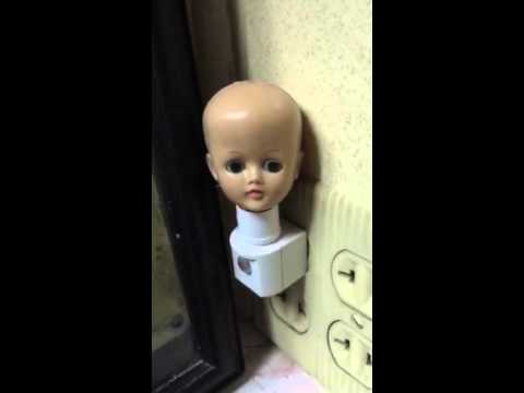 Creepy Doll Head Nightlight