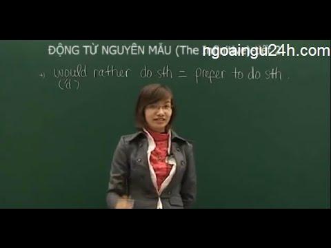 [Học tiếng Anh] Bài 14 - Động từ nguyên mẫu - Cô Mai Phương - ngoaingu24h.com