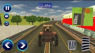 Train Vs Tractor Racing Game || Train vs Tractor game || racing competition game