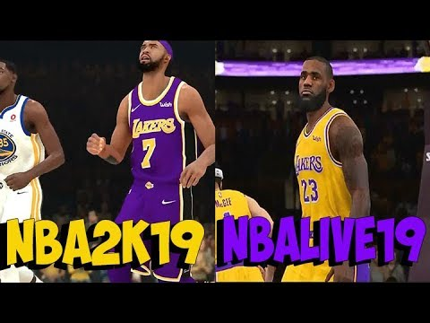 b7a1bd95404 NBA LIVE 19 VS NBA 2K19 GAMEPLAY AND GRAPHICS COMPARISON - YouTube