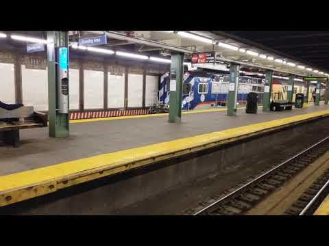 MTA R156 Work Train Passing By Hunts Point In The Bronx, New York