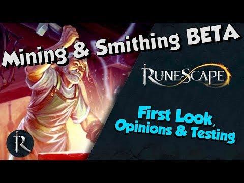 New! Mining & Smithing Rework BETA testing [Runescape 3] Amazing fun