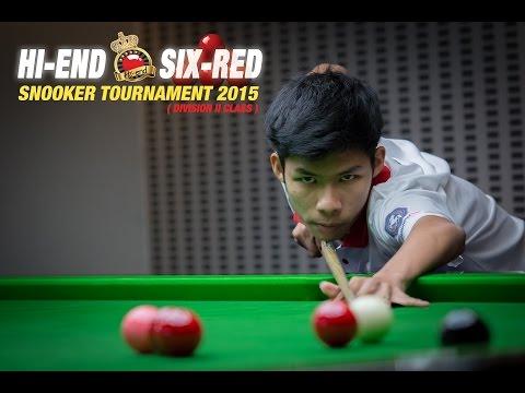 Hi-end snooker SIX-RED - หมดโต๊ะจริงๆไม่เหลือแม้แต่ขาว โดย พรปิยะ กาวสำราญ (แบงค์ โซโห) 27-3-2015
