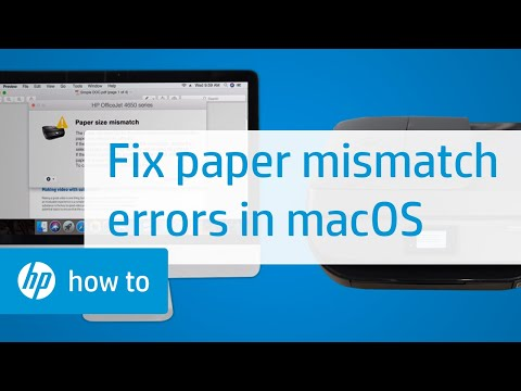 How to Fix Paper Mismatch Errors in macOS for HP Printers