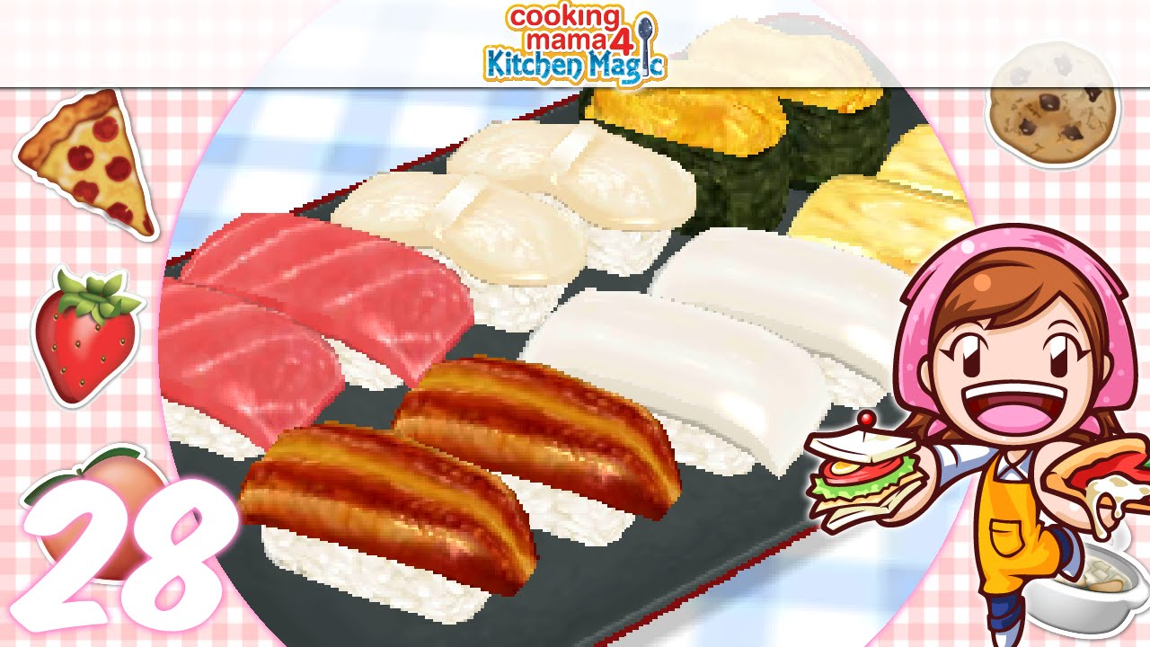 Let S Play Cooking Mama 4 Kitchen Magic Ep28 Sushi