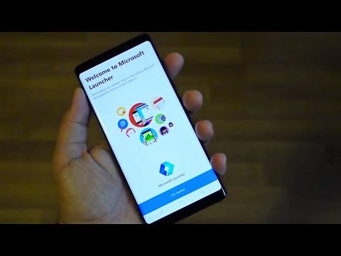 Review Microsoft Launcher for Android - Galaxy Note 8 demo