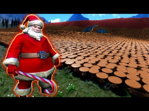 SUPER SANTA TAKES ON FURNITURE ARMY - Ultimate Epic Battle Simulator (UEBS)