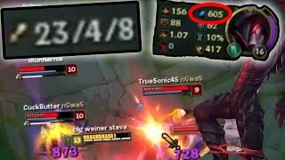 THE TRUE ONE SHOT GOD!! (FULL AP AATROX MID) - League of Legends With Pants Are Dragon and Friends