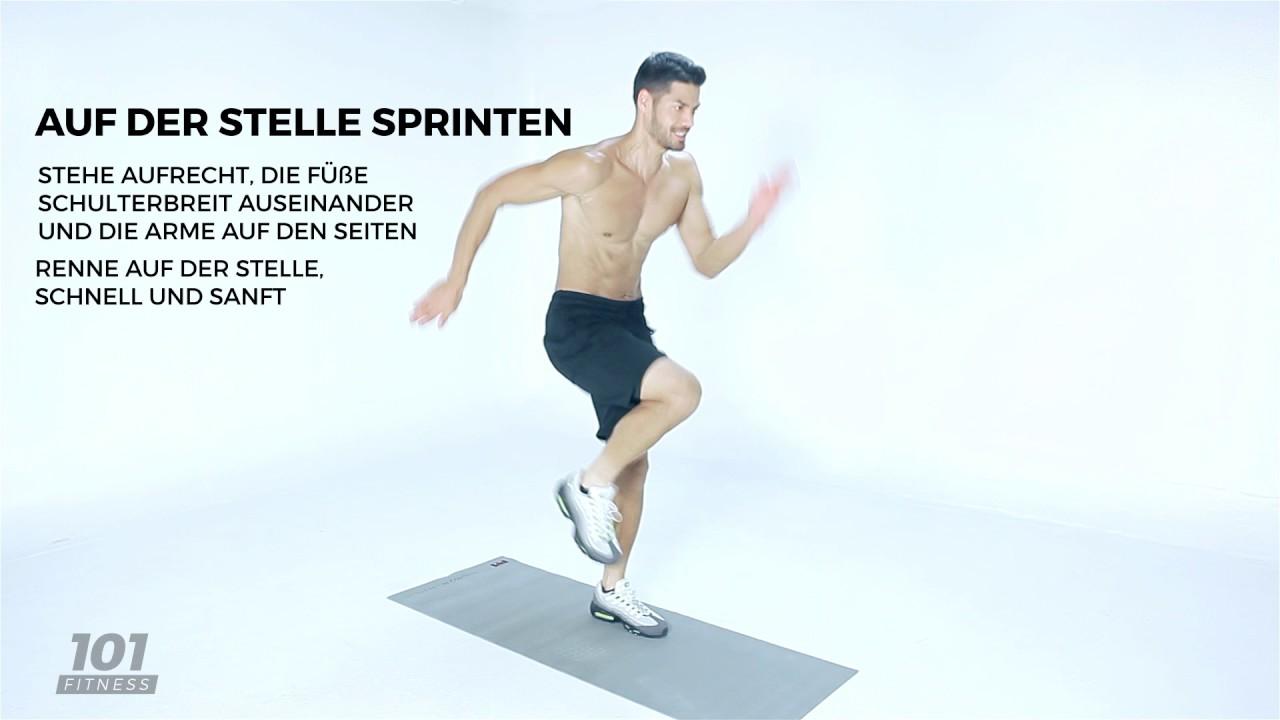 101 Fitness Ex 017 Auf Der Stelle Sprinten Ge Youtube