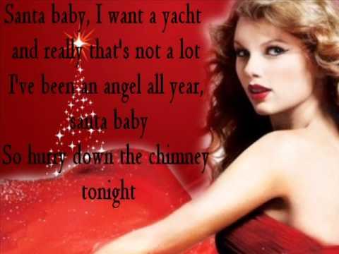 TaylorSwift-Santa Baby Lyrics