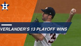 Verlander has 2nd most postseason wins in AL history