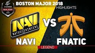 [LEGEND] NAVI VS FNATIC » BOSTON MAJOR 2018 HIGHLIGHTS!