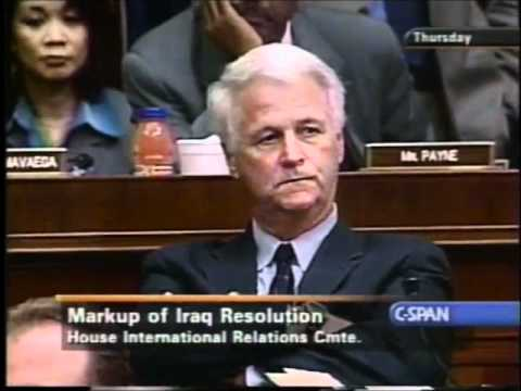 House International Relations Committee's Final Vote on the Iraq War Resolution