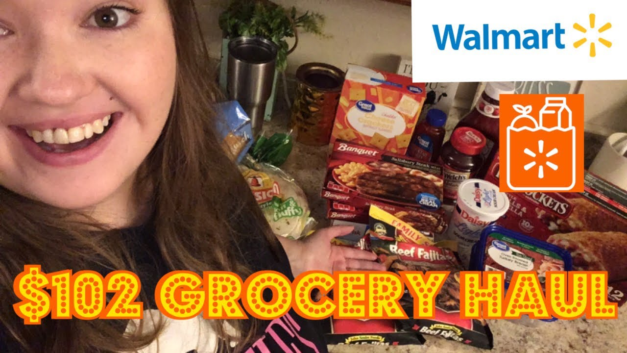 WALMART GROCERY PICK UP HAUL | GROCERY HAUL ON A BUDGET FOR A FAMILY OF 3