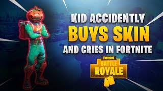 KID BUYS WRONG SKIN AND CRIES ABOUT IT IN FORTNITE! Fortnite RAGE