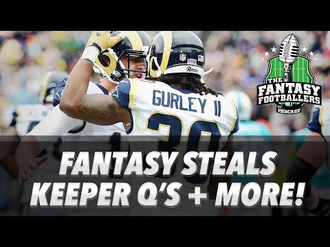 Fantasy Football 2017 - Rookie Steals, Keeper Quandaries, and Bears. Oh my! - Ep. #376