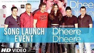 'Dheere Dheere' Song Launch Event | Hrithik Roshan, Sonam Kapoor, Bhushan Kumar | T-Series