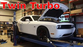 TWIN TURBO CHALLENGER ON THE DYNO