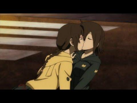 Durarara!! Kururi And Mairu Yuri Moments