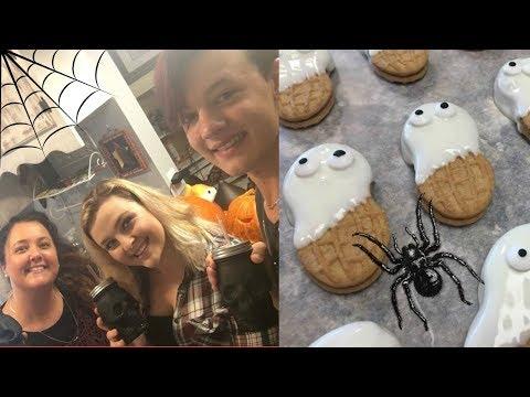 Halloween VLOG Treats And Pumpkin Carving