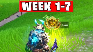 ALL Secret Battle Stars Saison 10 - Fortnite Week 1 à 7 Emplacements (SEASON X)