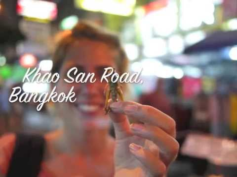 Eating Insects on Khao San Road