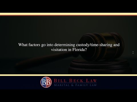 What factors go into determining custody/time-sharing and visitation in Florida?