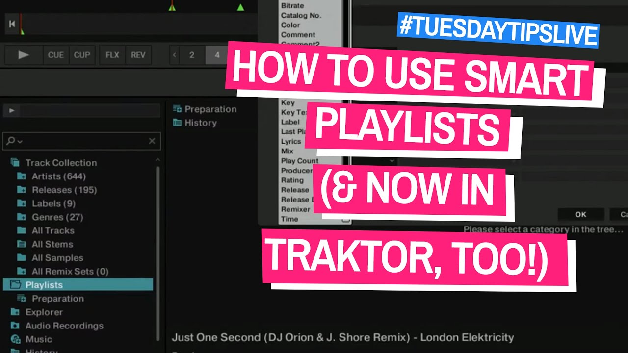 How To Use Smart Playlists (& Now In Traktor, Too!) #TuesdayTipsLive