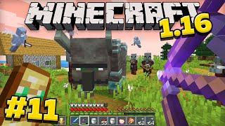 Майнкрафт 1.16 Выживание без модов! Рейд в minecraft! #11