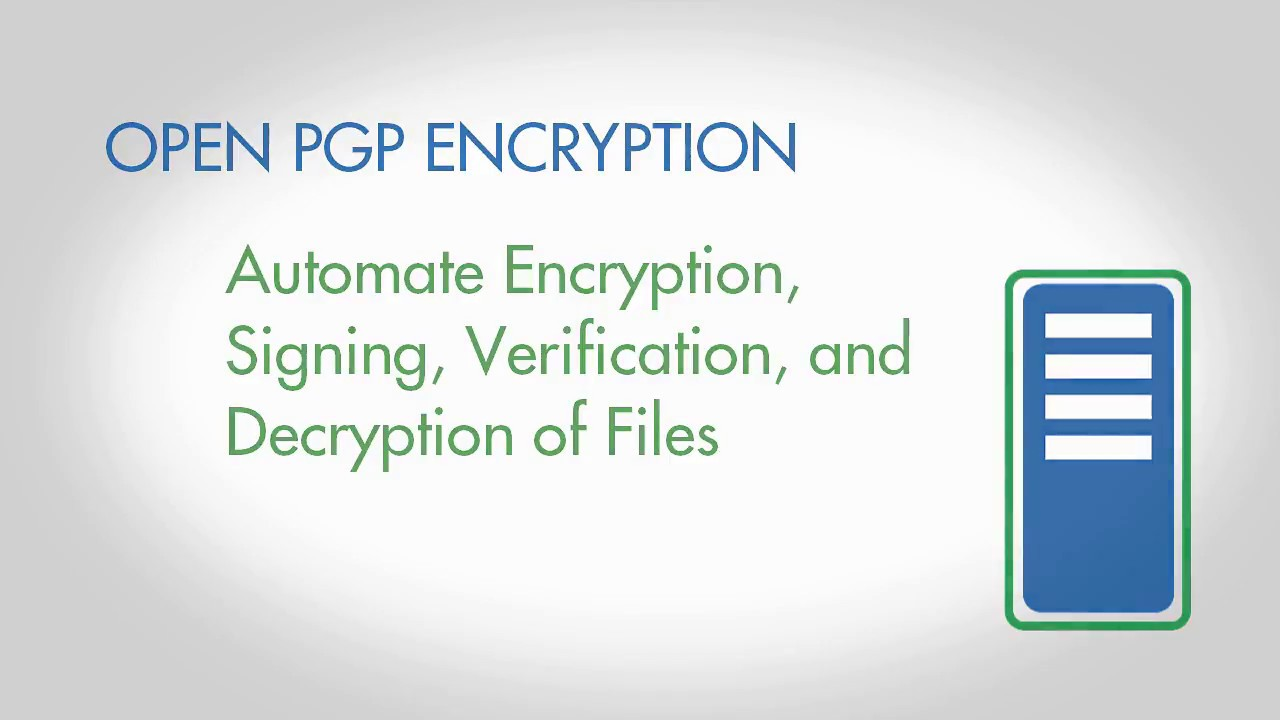 open pgp encryption with goanywhere managed file transfer youtube