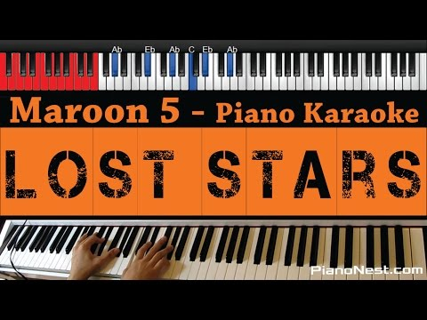 Maroon 5 / Adam Levine - Lost Stars - HIGHER Key (Piano Karaoke / Sing Along)